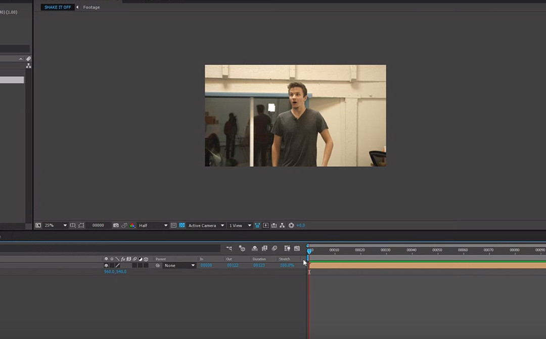 Como crear temblores de cámara con After Effects